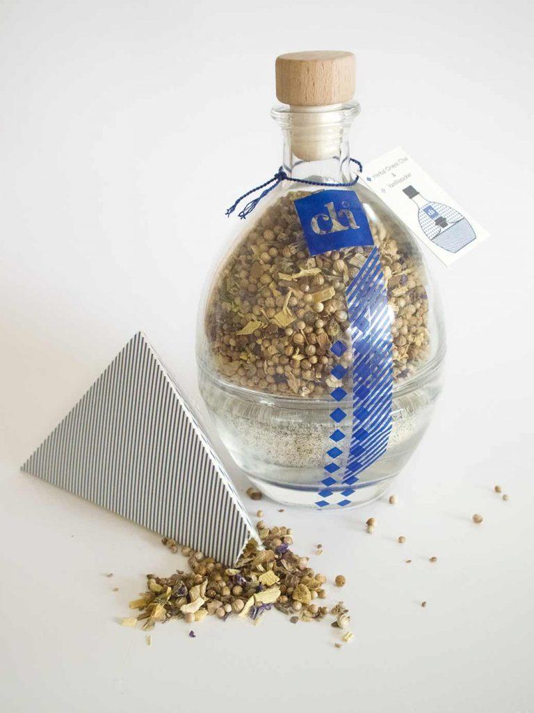 Etikett und Verpackung von Chai Tee