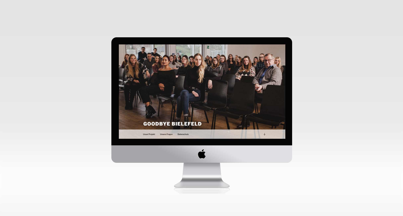Webseite für das Projekt Goodbye Bielefeld für die Alumni der Fachhochschule Bielefeld